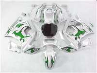 1991-1994 Honda CBR 600 F2 Green Tribal/Silver Fairings | NH69194-7
