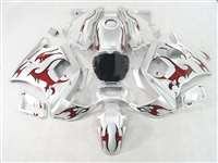 1991-1994 Honda CBR 600 F2 Red Tribal/Silver Fairings | NH69194-8