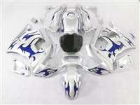 Blue Tribal/Silver 1991-1994 Honda CBR 600 F2 Motorcycle Fairings | NH69194-9