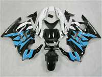 1991-1994 Honda CBR 600 F2 Black/White/light Blue Fairings | NH69598-33