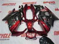 1991-1994 Honda CBR 600 F2 Black Red Fairings | NH69598-45