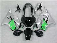 1999-2000 Honda CBR 600 F4 Silver/Green Fairings | NH69900-6