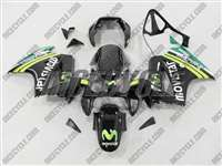 2002-2013 Honda VFR 800 Black Movistar Fairings | NH80213-21