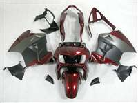 1998-2001 Honda VFR 800 Matte Black/Red Fairings | NH89801-10