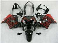 1998-2001 Honda VFR 800 Red Flames Fairings | NH89801-16