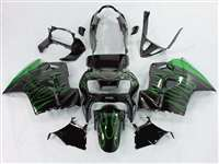 1998-2001 Honda VFR 800 Green Flame Fairings | NH89801-4
