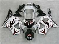 2002-2003 Honda CBR 954RR White/Red Flame Fairings | NH90203-16