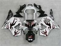2002-2003 Honda CBR 954RR White/Red Flame Fairings | NH90203-32