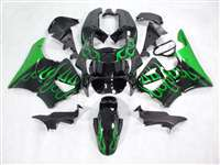 1998-1999 Honda CBR 900RR Metallic Green Flame Fairings | NH99899-1