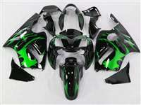 2002-2005 Kawasaki ZX12R Tribal Green Fairings | NK10205-10