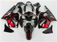 2002-2005 Kawasaki ZX12R Tribal Red Fairings | NK10205-11