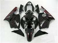 2002-2005 Kawasaki ZX12R Deep Red Fire Fairings | NK10205-12