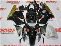 2002-2005 Kawasaki ZX12R Black/Gold Fairings | NK10205-5