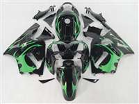 2002-2005 Kawasaki ZX12R Tribal Deep Green Fairings | NK10205-9