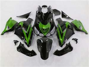 Black/Green 2006-2011 Kawasaki ZX14R Motorcycle Fairings | NK10611-30