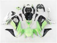 2008-2010 Kawasaki ZX10R Green/Black/Silver Fairings | NK10810-1