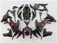 2008-2010 Kawasaki ZX10R Red Fire Fairings | NK10810-4