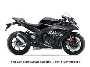 2016-2018 Kawasaki ZX10R Gloss Black Fairings | NK11618-3