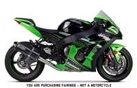 2016-2018 Kawasaki ZX10R Green/Black Fairings | NK11618-4