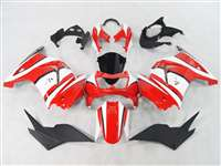 2008-2012 Kawasaki Ninja 250R Red/White Fairings | NK20812-13