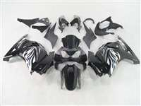 2008-2012 Kawasaki Ninja 250R Black Tribal White Fairings | NK20812-17