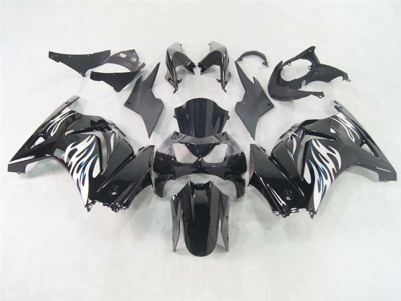 2008 2012 Kawasaki Ninja 250r Black Tribal White Fairings Nk20812 17