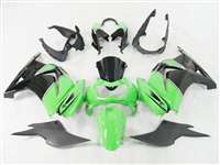 2008-2012 Kawasaki Ninja 250R Black/Green Fairings | NK20812-18
