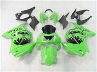 2008-2012 Kawasaki Ninja 250R Skull Head Green Fairings | NK20812-21