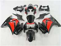 Black/Red 2008-2012 Kawasaki Ninja 250R Motorcycle Fairings | NK20812-24