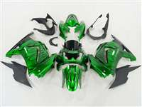 2008-2012 Kawasaki Ninja 250R Candy Green Flame Fairings | NK20812-28