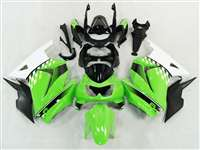 Green/White 2008-2012 Kawasaki Ninja 250R Motorcycle Fairings | NK20812-30