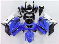 Blue/White 2008-2012 Kawasaki Ninja 250R Motorcycle Fairings | NK20812-31