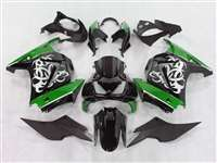 2008-2012 Kawasaki Ninja 250R Tribal Graphic Green Fairings | NK20812-4