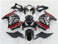 2008-2012 Kawasaki Ninja 250R Tribal Graphic Red Fairings | NK20812-5