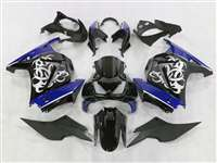 2008-2012 Kawasaki Ninja 250R Tribal Graphic Blue Fairings | NK20812-6