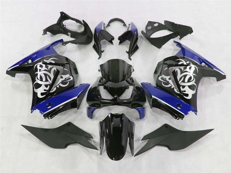 2008-2012 Kawasaki Ninja 250R Tribal Graphic Blue Fairings | NK20812-6