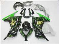 2013-2017 Kawasaki Ninja 300 Fire Green Fairings | NK31317-10