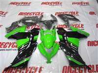 2013-2017 Kawasaki Ninja 300 Green/Black OEM Style Fairings | NK31317-3