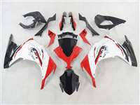 2013-2017 Kawasaki Ninja 300 White Red Motorcycle Fairings | NK31317-4