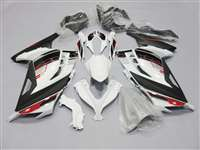2013-2017 Kawasaki Ninja 300 White/Black Fairings | NK31317-9