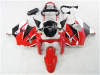 Kawasaki 2000-2002 ZX6R and 2005-2009 ZZR600 Crazy Red/White Fairings | NK60002-10