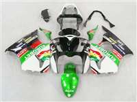 Kawasaki 2000-2002 ZX6R and 2005-2009 ZZR600 Green Eurobet Fairings | NK60002-12