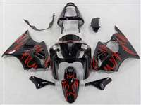 Kawasaki 2000-2002 ZX6R and 2005-2009 ZZR600 Bright Red Tribal Fairings | NK60002-16