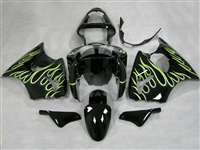 Kawasaki 2000-2002 ZX6R and 2005-2009 ZZR600 Yellow Tribal Fairings | NK60002-23