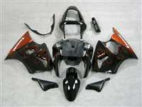 Kawasaki 2000-2002 ZX6R and 2005-2009 ZZR600 Orange Fire Fairings | NK60002-24