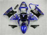Kawasaki 2000-2002 ZX6R and 2005-2009 ZZR600 Plasma Blue Race Fairings | NK60002-28