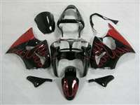 Kawasaki 2000-2002 ZX6R and 2005-2009 ZZR600 Red Fire Fairings | NK60002-29
