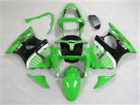 Kawasaki 2000-2002 ZX6R and 2005-2009 ZZR600 Green Race Fairings | NK60002-30