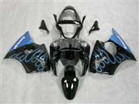 Kawasaki 2000-2002 ZX6R and 2005-2009 ZZR600 Sky Blue Flame Fairings | NK60002-32