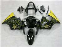 Kawasaki 2000-2002 ZX6R and 2005-2009 ZZR600 Yellow Flame Kanji Fairings | NK60002-33